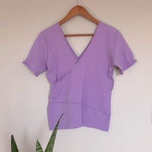 Lululemon Jazz Wrap short sleeve purple top